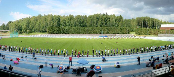 Näkymä tauluammunnan SM-kilpailuista 2015 Leppävaarassa.